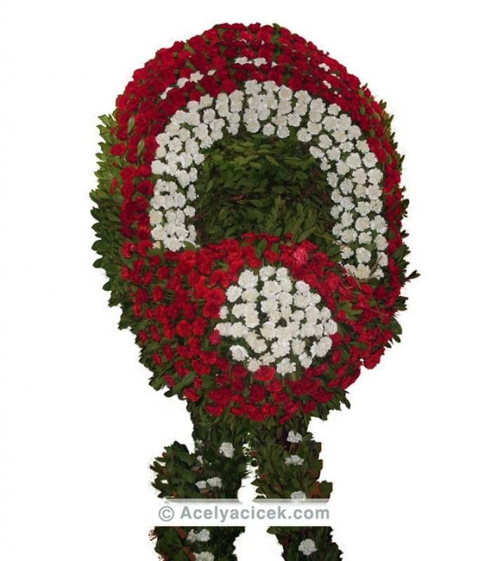 Vip Kırmızı Beyaz Cenaze Çelengi