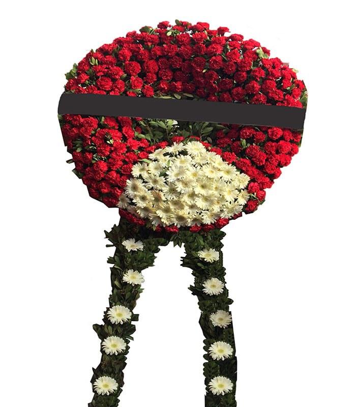 Kırmızı Pembe Cenaze Çelengi