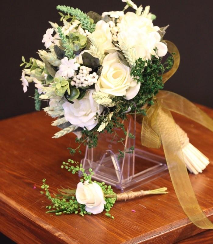 Beyaz Yeşil Gelin Çiçeği