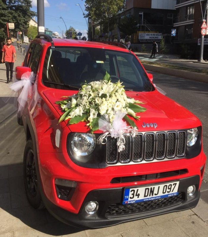 Kırmızı Jeep Gelin Arabası