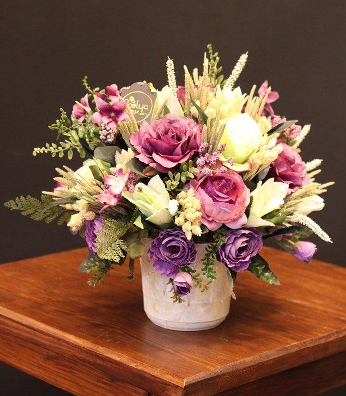 Yapay Çiçek Aranjmanı Pastel