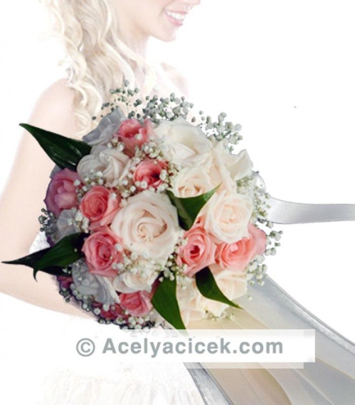 Canlı Gelin El Çiçeği Buketi
