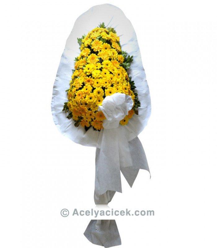 Sarı Gerberalı Düğün Sepeti